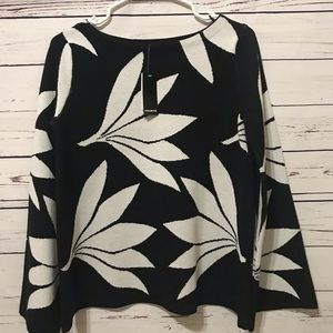 Premise black knit Sweater with flare sleeves